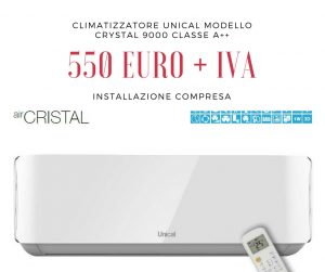 Climatizzatore Unical Crystal 9000 Btu classe A++