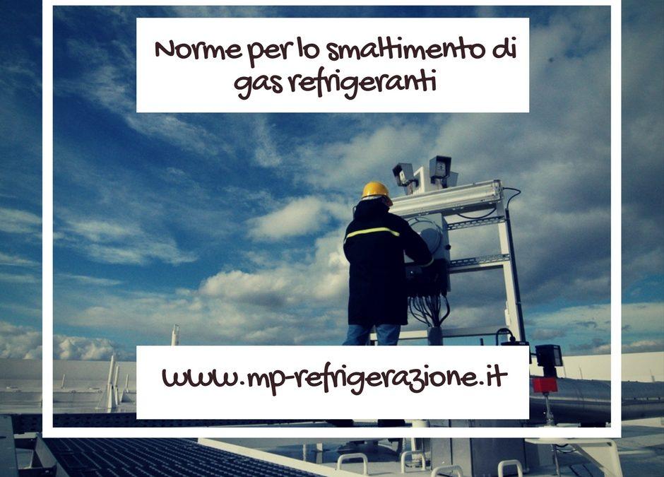 smaltimento di gas refrigeranti: obblighi morali e legislativi